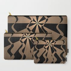 Trendy abstract in gold and black Carry-All Pouch