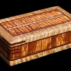 A study in the best of Island woods, this box is animated by intensely figured Hawaiian koa (golden) and mango (white) with milo providing the darker … Custom Jewelry, Jewelry Box, Wood Boxes, Display Case, Oeuvre D'art, Jewelry Collection, Projects To Try, Decorative Boxes, Artisan