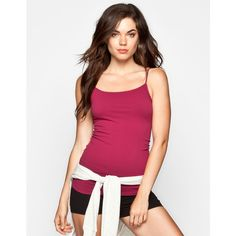 Full Tilt Essential Womens Seamless Cami ($9.99) ❤ liked on Polyvore featuring tops, shirts, tank tops, tanks, camis, sheer camisole, purple cami, seamless camisole, layering cami and purple camisole