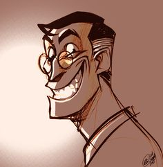 The world's most heartwarming smile! <<< The world's most smug and evil smile Smile Drawing, Evil Smile, Drawing Expressions, Team Fortress 2, Nerd Geek, Drawing Reference, All Art, Concept Art, Character Design