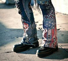 Custom Handmade Pants By Cody Varona of Forgotten Saints LA. Merica.