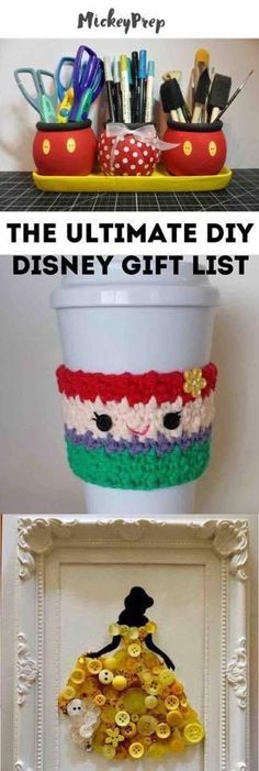 the ultimate list of diy Disney gifts to make for any occasion. Holiday diy Disney gifts for the Disney lover in your life. Woodworking Shows, Woodworking Patterns, Woodworking Projects Diy, Diy Projects, Teds Woodworking, Project Ideas, Woodworking Furniture, Intarsia Woodworking, Woodworking Beginner