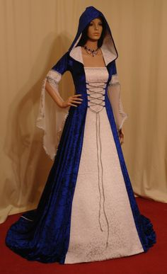 medieval handfasting renaissance dress custom made. $266.00, via Etsy.