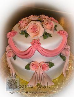 Vintage roses gâteau
