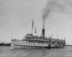 Toronto Steamer 1901 Vintage 8x10 Reprint Of Old Photo