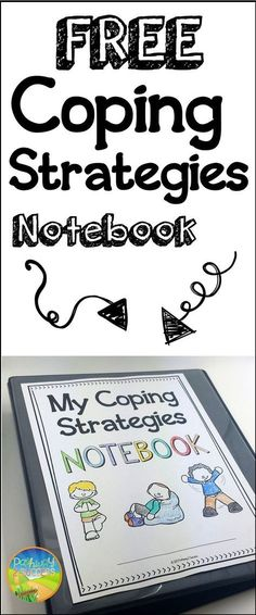 FREE coping strategies notebook resources for anger, anxiety, depression, and more. I would use this in the classroom for students who have emotional disturbances and need to learn coping strategies to avoid behavior problems. Elementary School Counseling, School Social Work, School Counselor, Elementary Schools, Counseling Activities, Therapy Activities, Play Therapy, Therapy Ideas, Group Counseling