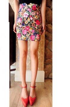 High Quality Vintage Style Flowers Decorated Tunic Skirt Black Vintage Style, Vintage Fashion, Flower Decorations, Tunic, Floral, Flowers, Skirts, Beautiful, Black