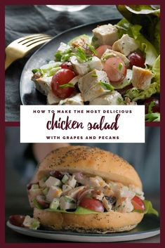 Go with plump and delicious California grapes for a chicken salad that will make you love your lunch. Go with grapes Grape Recipes, Easy Salad Recipes, Chicken Salad Recipes, Lunch Recipes, Dinner Recipes, Cooking Recipes, Healthy Recipes, California Chicken Salad Recipe, Chicken Salads