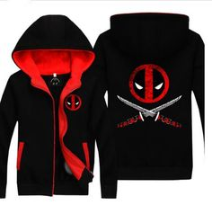 wade wilson deadpool hoodie with zipper superhero fleece lined hooded sweatshirt for teens Deadpool Jacket, Deadpool Outfit, Deadpool Cosplay, Superhero Cosplay, Marvel Shoes, Marvel Clothes, Avengers Clothes, Dead Pool, Marvel Anime