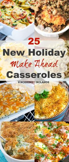 25 New Holiday Make Ahead Casseroles by Noshing With The Nolands. Let these grea… 25 New Holiday Make Ahead Casseroles by Noshing With The Nolands. Let these great make ahead casseroles help you save time when preparing for Easter or any holiday! Make Ahead Casseroles, Make Ahead Meals, One Pot Meals, Freezer Meals, Dinner Party Recipes Make Ahead, Easy Make Ahead Appetizers, Casseroles Healthy, Chicken Freezer, Make Ahead Desserts