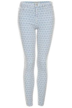 MOTO Tile Print Leigh Jeans