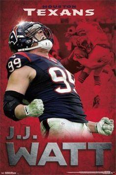 Roaring Houston Texans JJ Watt Poster