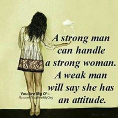 A Real Man - Strong Woman=Winning