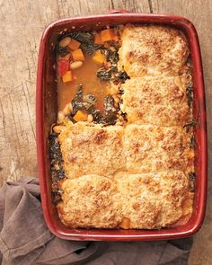 minestrone and parmesan biscuit pot pie