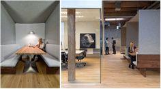 Small felt meeting rooms.