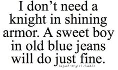 sweet boy and old blue jeans will be just fine!
