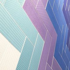 Thanks to @nemotile for recently injecting our Insta-stream with #color! These #tiles in a palette of fresh hues punctuated with detailed #texture installed in a #herringbone #pattern have us envisioning a really cool #restaurant or #hotel #design. / #tiletuesday #tile #tiled #chevron #purple #blue #interior #interiors #interiordesign #interiordesigner #instahome #homedesign #homedecor #interiordecor #interiorstyling #walltile #designer #tileaddiction #subwaytile #commercialdesign #colors by…