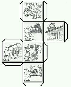 Histórias com cubos - três porquinhos