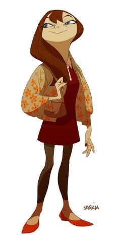 """Fashion Victim"" by Saskia Gutekunst*  Blog/Website | (http://coyotesaskia.blogspot.ie/)Jackets nice heads a weird size"