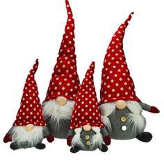 Gnomes, lutins, tomte en peluche.