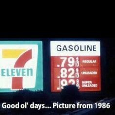 I wish that was still the case! :) 80s, stuff, 70s, gas price, funni, rememb, childhood memori, thing, kid