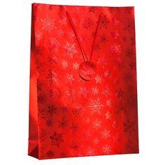 2 Metallic Extra Large Snowflake Gift Bags | Poundland