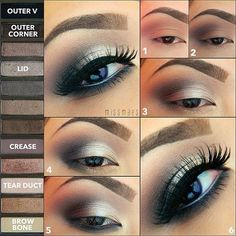 Urban Decay eyeshadow is one of the best out there! The formula is so easy to blend! - Naked Palette 2 pictorial Read below for steps! Love Makeup, Makeup Inspo, Makeup Inspiration, Makeup Tips, Makeup Looks, Makeup Ideas, Makeup Tutorials, Awesome Makeup, Makeup Set