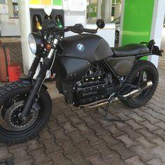 #BMW #k100 #totalblack #motodiferro