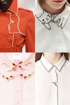 Design details: Graphical Line Drawing - grainlinestudio. - Design details: Graphical line drawing – grainlinestudio.c … Design details: Graphic Line Drawi - Collar Designs, Blouse Designs, Kurti Neck Designs, Dress Designs, Kleidung Design, Diy Clothes, Clothes For Women, Teens Clothes, Fashion Outfits