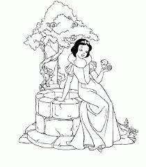 Desenhos de Pintar: Branca de neve