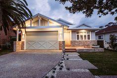 Brick Rendering, Kyal And Kara, Little Dream Home, Front Door Lighting, Weatherboard House, Recycled Brick, Kerb Appeal, Hampton Style, Pastel House