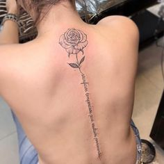 Tattoos are currently observed as an artwork and a type of individual articulation and the floral tattoo is winding up progressively mainstr. Flower Spine Tattoos, Tattoos For Women Flowers, Back Tattoos, Rose Tattoos, Body Art Tattoos, Small Tattoos, Sleeve Tattoos, Tattoo On Back, Girl Spine Tattoos