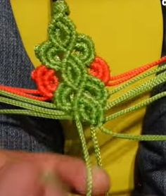 Macrame sandal tutorial. It can be adapted to make jewelry.