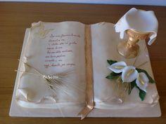 [PDZ] - Calice sontuoso per Enrico Bible Cake, Religious Cakes, Confirmation Cakes, First Communion Cakes, Bridal Shower Cakes, Square Cakes, Fondant Cakes, Boy Birthday, First Birthdays