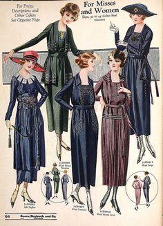 1920 1900s Fashion, Edwardian Fashion, Vintage Fashion, Louise Brooks, Moda Art Deco, Vintage Dresses, Vintage Outfits, 1920s Outfits, Fashion Illustration Vintage