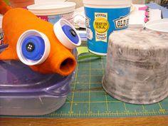 One Crayola Short: Paper Mache Fish Plastic Bottles, Paper Mache, Kindergarten Curriculum, Art Teachers, Fish, Canning, Elementary Art, Projects, Image