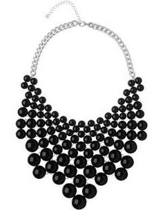 Phase Eight Bea collar necklace, Black.  A stunning beaded collar necklace to make a statement to any outfit.  And only AU$46.