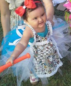 Toddler Hello Kitty in Wonderland Apron Custom Made Size 12-24 months #Custommade #DressyEveryday