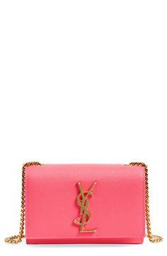 SAINT LAURENT 'Mini Monogram' Crossbody Bag. #saintlaurent #bags #shoulder bags #leather #crossbody