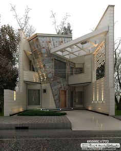 In this case, we wondered which are the most beautiful modern homes that are built. Modern Exterior House Designs, Modern House Design, Exterior Design, Bungalow House Design, House Front Design, Architecture Today, Architecture Design, London Architecture, Beautiful Modern Homes