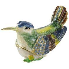 Green & Blue Hummingbird Jewel Box