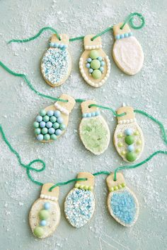 Christmas Light Sugar Cookies  - CountryLiving.com