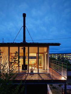 Modern Home in Japan. House Deck, My House, Architect Design, Simple House, Terrace, Exterior, House Design, Landscape, Interior Design