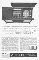 Zenith Stereo Console MH2670 1961 Ad Picture