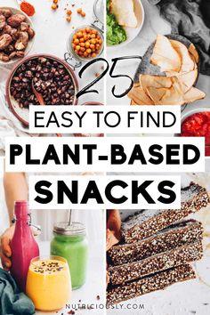Healthy Vegan Snacks, Vegan Treats, Vegan Foods, Easy Snacks, Vegan Recipes, Plant Based Snacks, Plant Based Diet, Perfect Food, Going Vegan