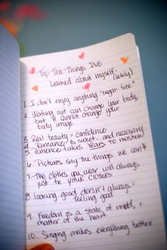I've learned..