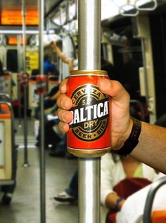 Marketing de Guerrilha no Metrô para a Cerveja Baltica