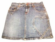 Cavaricci Heart 12 Girls Xs 0 Skirt $8.99 with FREE SHIPPING.   Cutest Denim Jean Skirt hearts hearts hearts.   Wear it for the holidays and then be ready for Valentine's Day!   Valentine Hearts galore!