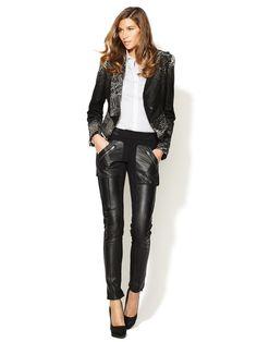 L.A.M.B. Ponte Leather Pant