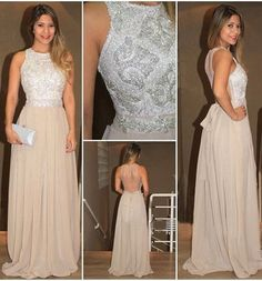 Halter Beading A-Line Prom Dresses,Long Evening Dresses,Sleeveless dress,